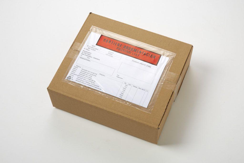 Arcalist document holder adhesive envelope