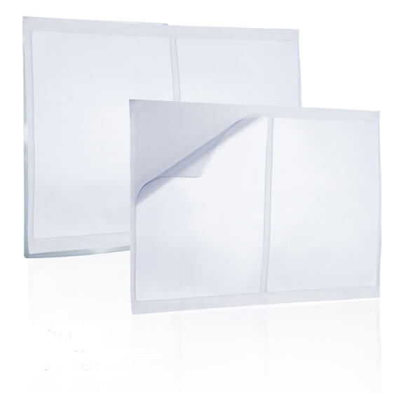 Self-adhesive pockets/pouches