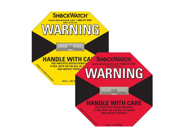 Warning transport indicators/stickers/adhesive labels/tags