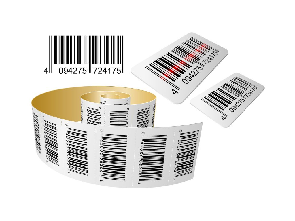 barcode labels/stickers roll