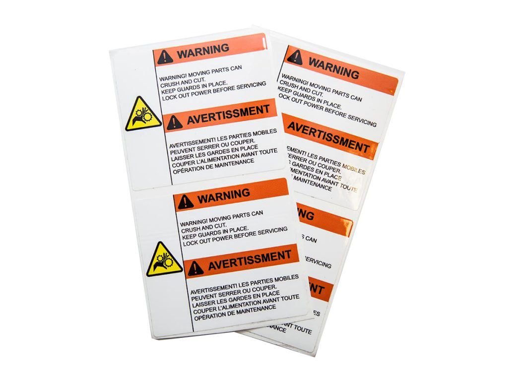 laminated labels/stickers